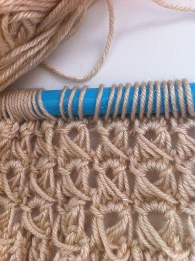 Crochet Lace Tutorial For Beginner : Broomstick lace, Broomstick lace crochet and Lace on Pinterest