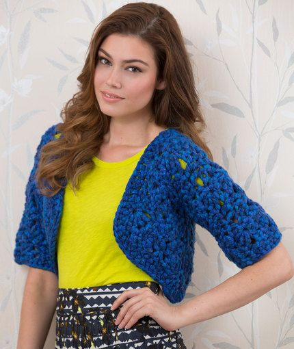 Crochet Bolero Shrug Free Pattern from Red Heart Yarns   Crochet and ...
