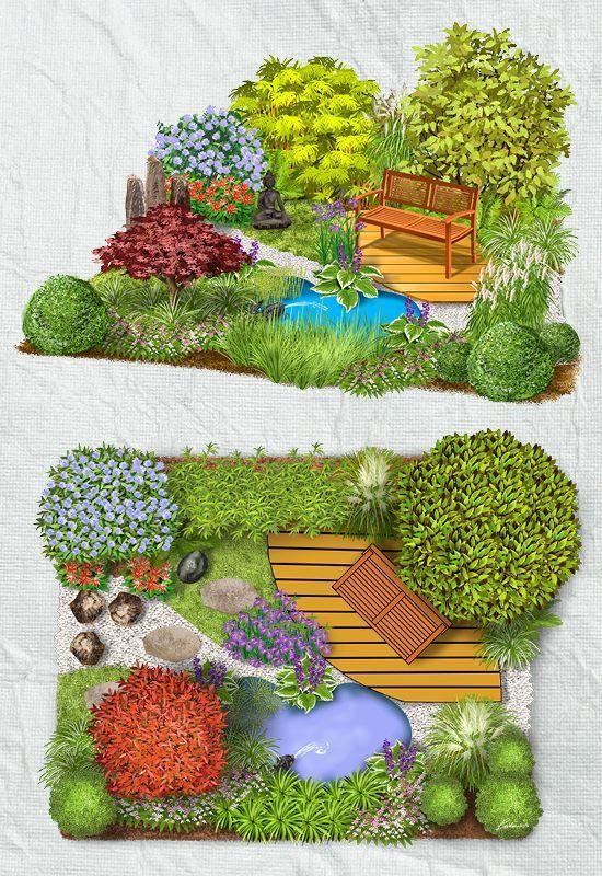 As A Small Oasis Of Calm The Asian Garden With Its Scenic Views Of The Asian Garden Garden Design Plans Garden Design