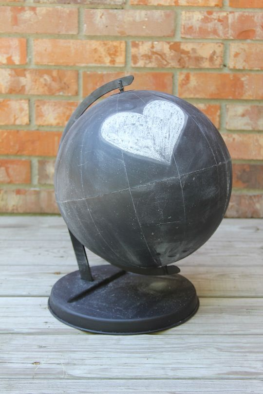 The Good Life Blog | DIY Chalkboard Globe