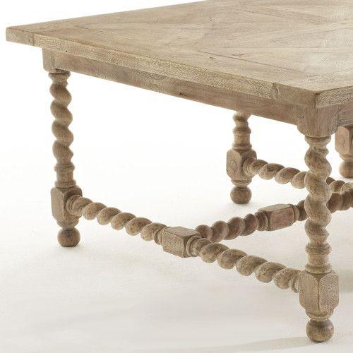 Barley Twist Coffee Table Furniture Moroccan Decor Living Room
