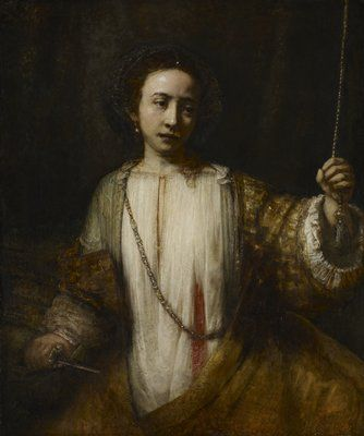 Lucretia Rembrandt Harmensz van Rijn (Netherlands, Europe), 1666 Oil on canvas