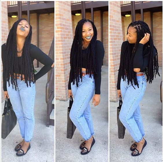 Image result for hairstyles with yarn twists