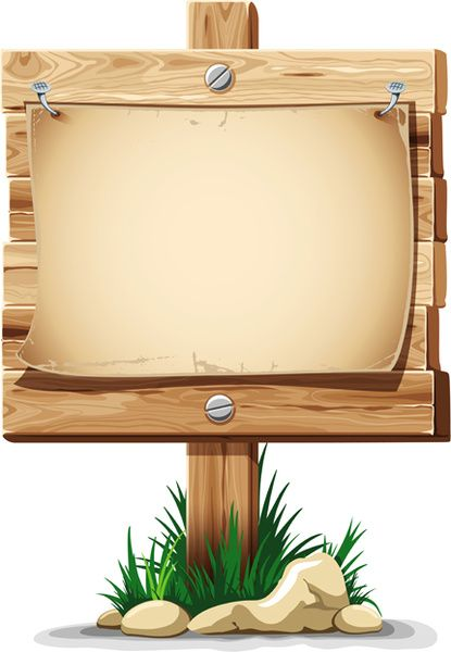 Wooden Board With Grass Vector Wooden Board Powerpoint Background Design Clip Art Borders