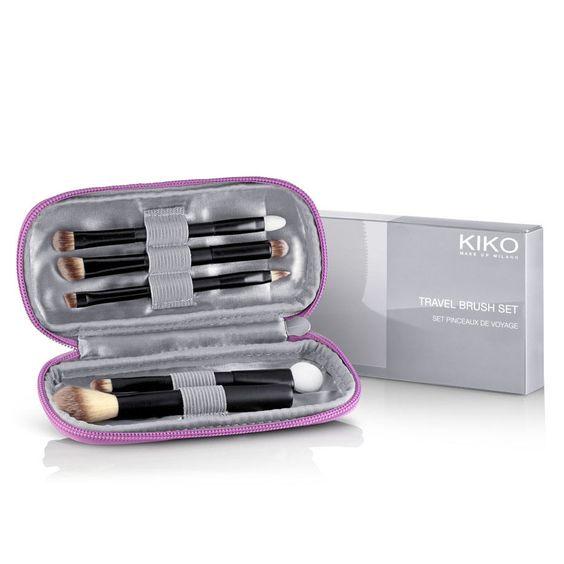 KIKO MILANO: Travel Brush Set - travel brush set for face, eyes and lips