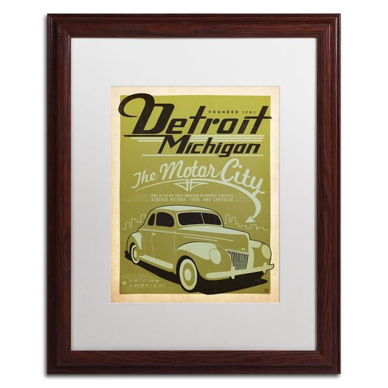 'Detroit' by Anderson Design Group Framed Graphic Art