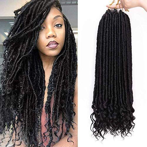 New Aisi Beauty 20 Inches Goddess Locs Crochet Hair Braiding Pre Looped Faux Locs Cr Black Hair Extensions Braid In Hair Extensions Curly Hair Styles Naturally