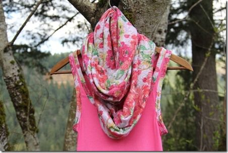 Easy Floral Infinity Scarf - Crafty Staci