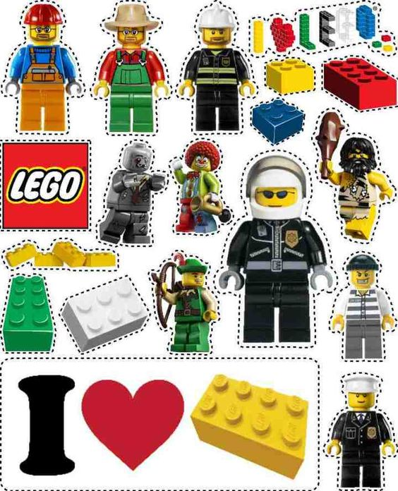 LEGOcustomstickerpage The Kid Magnets And Bookmarks - Custom stickers and magnets