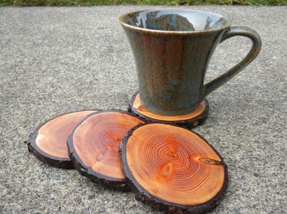 Pacific Northwest Wood Coaster Set 4 by KDAWoodworks on Etsy, $11.99