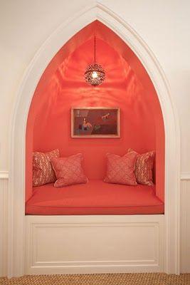 secret nook in coral...lovely lighting