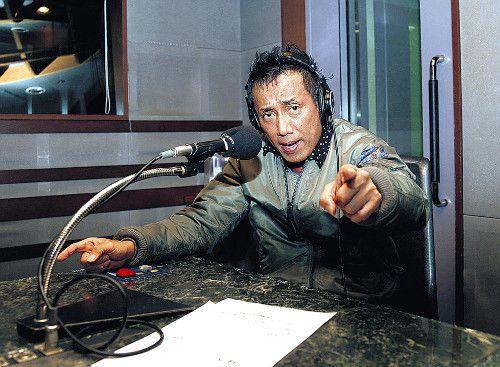 ラジオ番組中の長渕剛