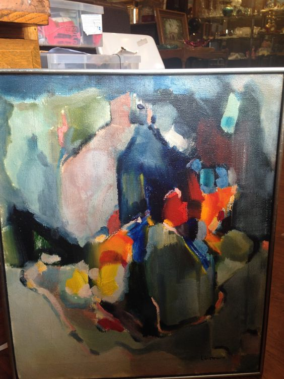 Michael Linstrom 1939-2014 San Francisco Abstract Expressionist and colorist, Post Painterly Abstraction.