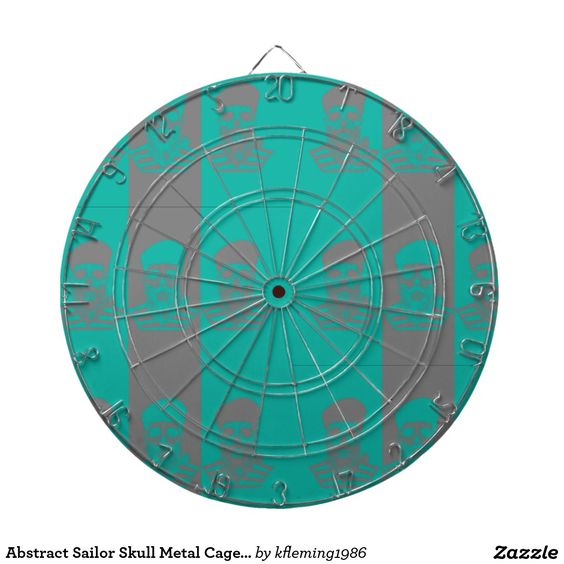 Abstract Sailor Skull Metal Cage Dartboard