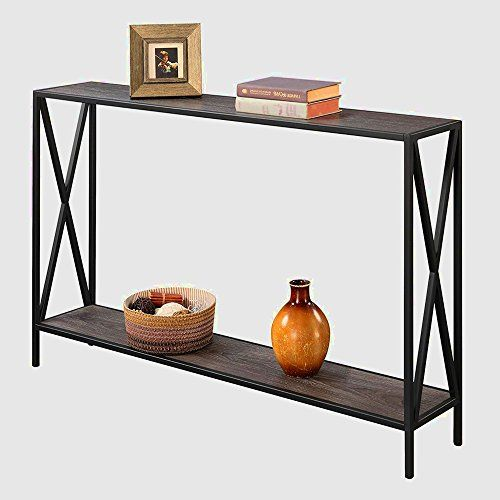 Tall Narrow Console Table Entryway Table Modern Hallway With