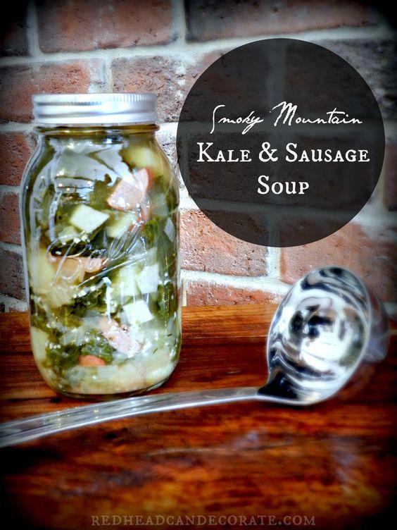 ... Kale & Sausage Soup   Recipe   Sausage Soup, Kale and Sausages