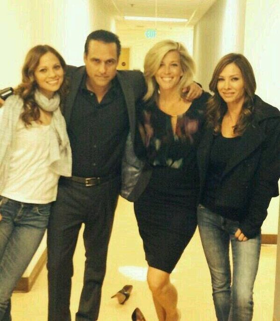 From Sarah Brown aka Carly One & aka Claudia Zacharrah on General Hospital on Facebook!! Maurice with his Carly girls. We all three did one episode with him, all of us playing Carly at the same time, poor guy, It airs this Tuesday on General Hospital