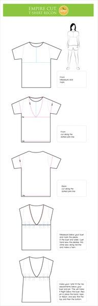 Fantastic Empire Cut Blouse T Shirt Reconstruction With Tutorial Short Hairstyles Gunalazisus