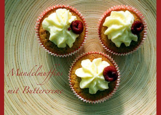 Mandelmuffins mit Buttercreme
