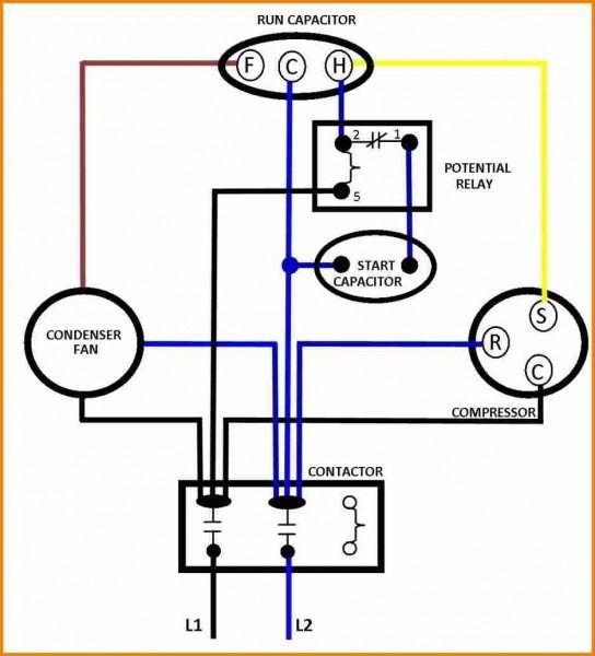 Capacitors For Compressor Wiring Diagram Ac Capacitor Compressor Electrical Circuit Diagram
