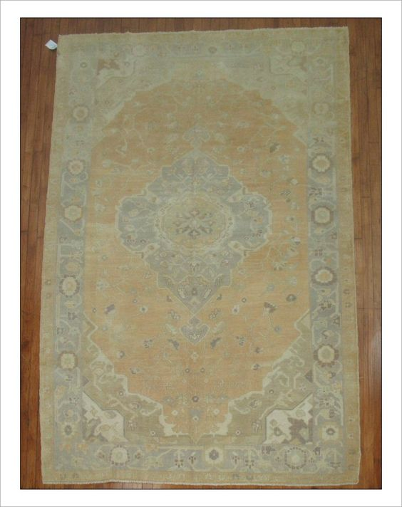 """Oushak  Rug Number: r3366 Size: 6'2"""" x 9'10""""   Rugs R Us Online,"""