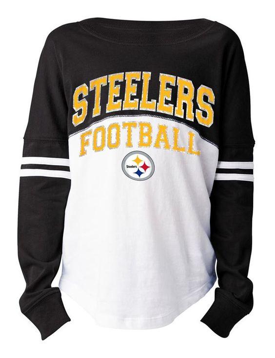 Pittsburgh Steelers Girls Varsity Crew Long Sleeve T-Shirt | Pittsburgh Steelers | Steelers Pro Shop | Buy Steelers Jerseys, Hats & Apparel
