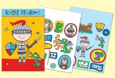 Rachel Ellen Designs Sticker Match Note Pads | STMNT5 Knight Stickers - http://www.stationeryheaven.nl/stickers