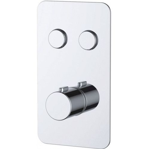 Just Taps Touch Hugo 2 Outlet Push Button Thermostatic Shower