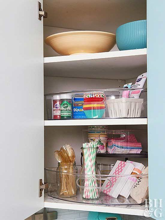 Make The Most Of A Tiny Kitchen With These Genius Storage Ideas Corner Kitchen Cabinet Storage Beautiful Kitchen Cabinets