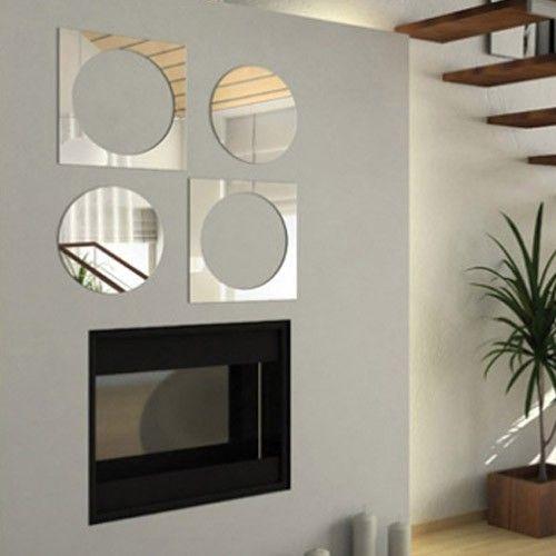Espelho Decorativo Quadrados Vazados