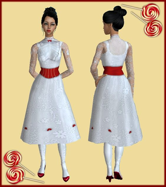 Mod The Sims - Gowns inspired from movies : Mary Poppins, some magic in the air...