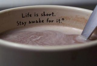 : Life Quote, Stay Awake, Coffee Cups, Life Is Short, Coffee Quotes, Coffee Mugs, Caribou Coffee