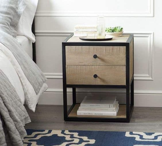 Wrought Iron And Wood They Say Little Things Can Make A Big Impact That S True Especially When It Comes To In 2020 Small Nightstand Bedroom Night Stands Furniture