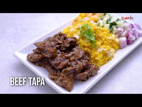 Beef Tapa Simpol Youtube Beef Tapa Beef Recipes Tasty Dishes