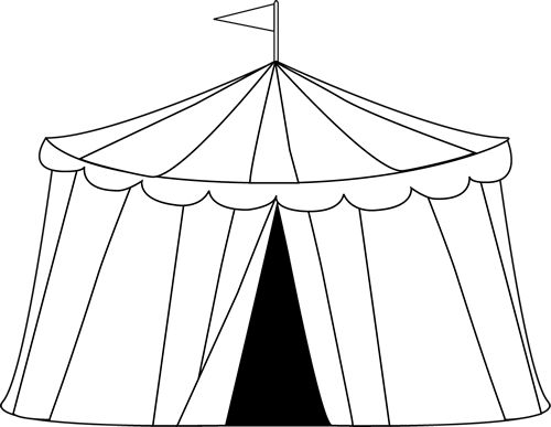 Clip Art Circus Tent Clip Art carnival clip art circus tent image black and white outline of a vbs pinterest carnivals graphics