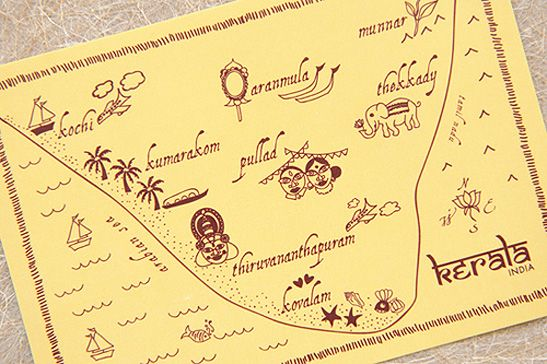 Planning an international destination wedding? Include an illustrated map in your wedding stationery!