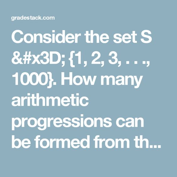 The  Best Arithmetic Progression Ideas On   Math