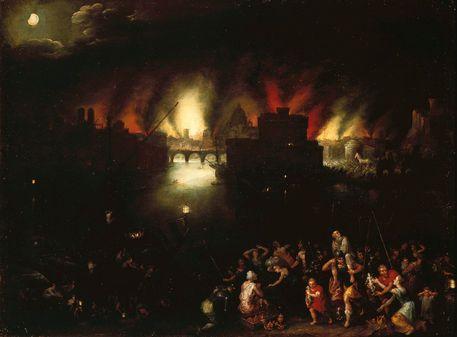 Jan Brueghel -Das Brennende Troja