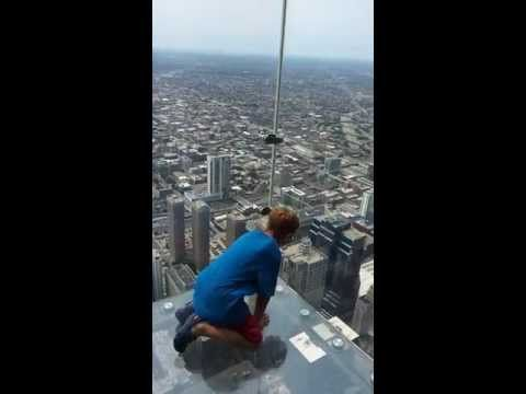 Parker Jax Ward is 1,353 ft in the air on Chicago's Skydeck 103rd floor ...