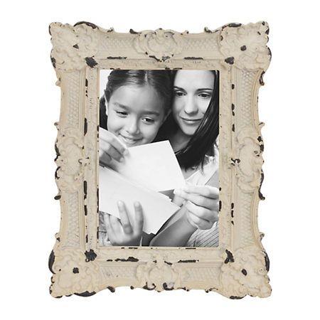 Ornate White Vintage Picture Frame, 4x6 | Kirklands