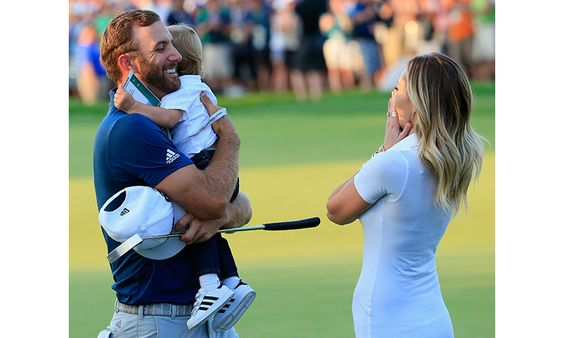 Paulina Gretzky and son Tatum share sweet moment with Dustin Johnson after US Open win - HELLO! Canada