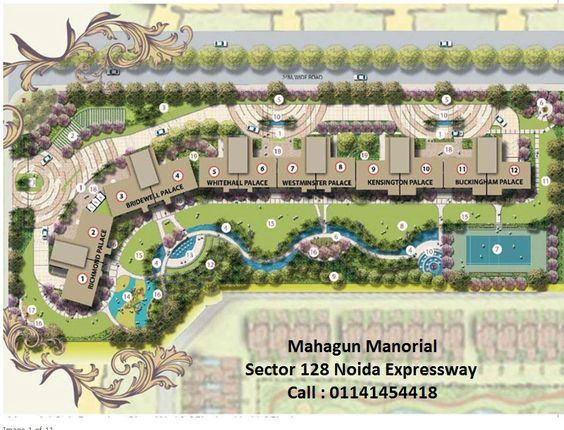 Mahagun Manorial Sector 128 Noida launched by Mahagun India to develop residential units at Wishtown. Here 3BHK and 3BHK apartments developing to set up new living experience on Noida Expressway.