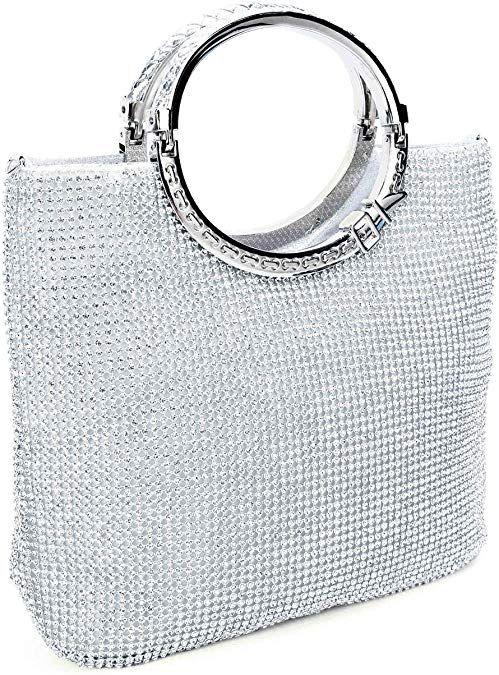 UBORSE Womens Bling Crystal Rhinestone Evening Clutch Prom Party Handbag Wedding Purse