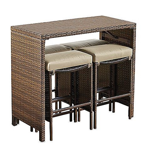 Stratford 5-Piece High Dining Set -- Great for my small deck