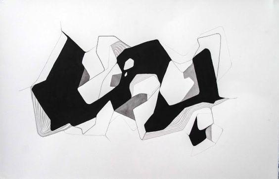 Charlotte Watson, Open Cut 1 (2014), ink & graphite on paper, 515x685mm framed $POA