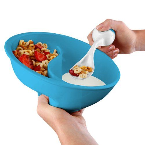 Obol, the Never-Soggy Cereal Bowl with SpoonIt - http://teacoffeestore.com/obol-the-never-soggy-cereal-bowl-with-spoonit/