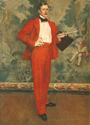 Henri Evenepoel (1872-1899) : Man in Red or Portrait of Paul Baigneres, 1894. Royal Museums of Fine Arts, Belgium, Brussels.