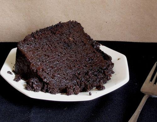 Triple Chocolate Mess Cake in a Crock Pot