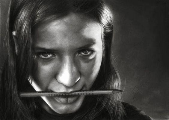 Foto-realistas l�pis Ilustra��es por Mihalyi Anita