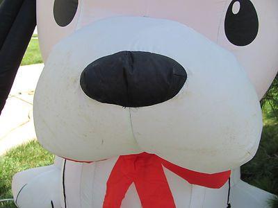 6' Dalmatian Puppy Air Blown Inflatable Xmas Light Outdoor Yard Holiday Lawn Vtg | eBay